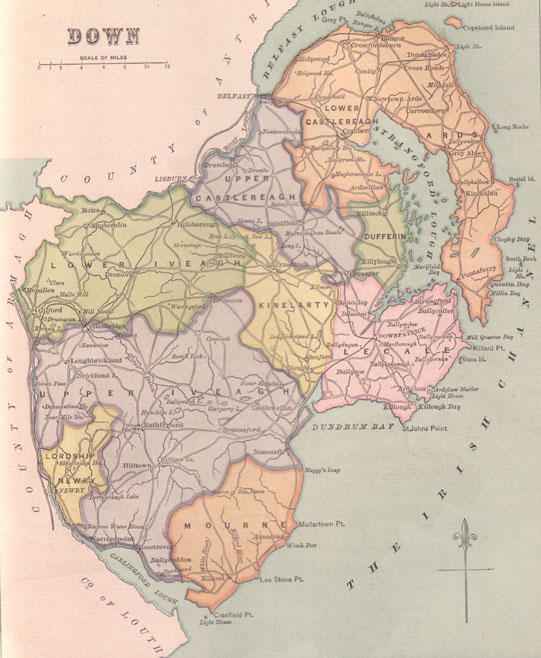 Map of 1890 County Down