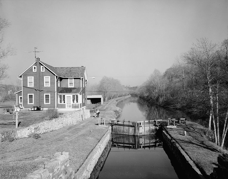 View of the Lehigh Canal at Glendon