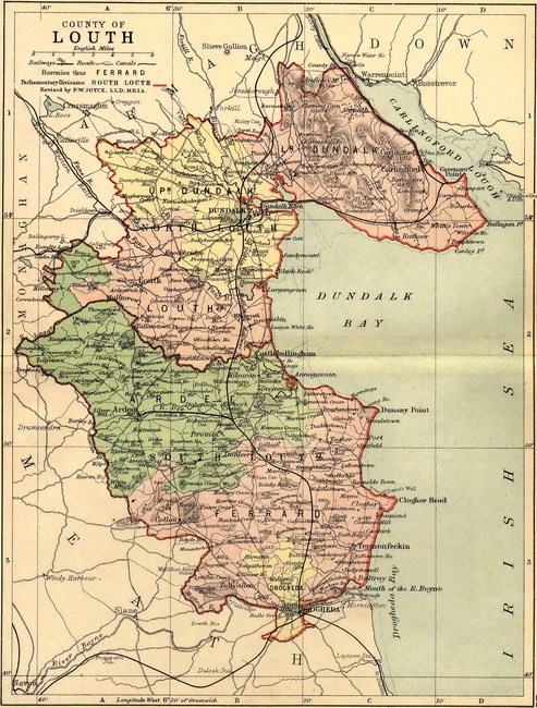 County Louth 19th Century Map